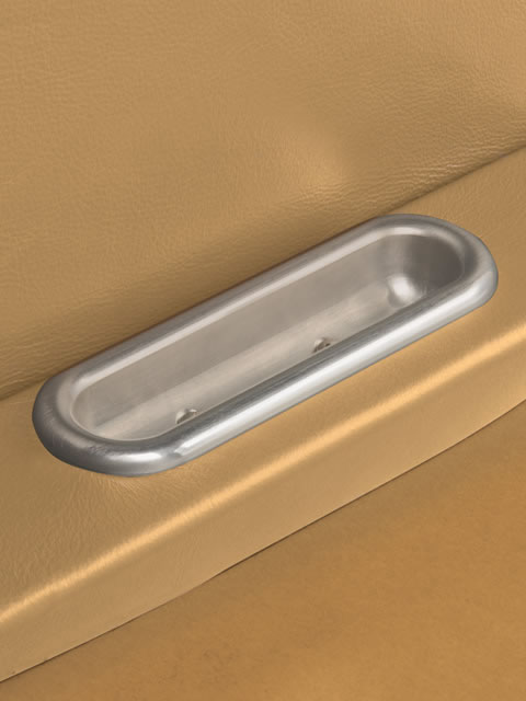 Brushed Oval Door Pull