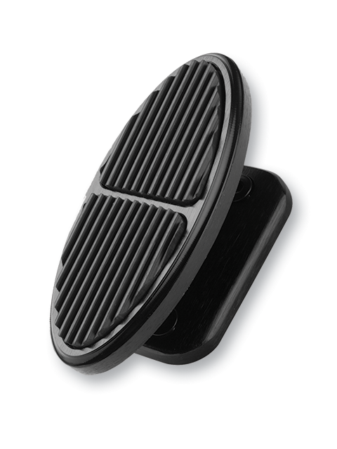 Oval Footrest Black